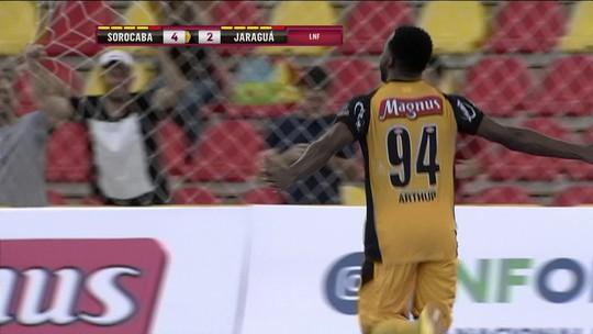Os gols de Sorocaba 5 x 2 Jaraguá pela Liga Nacional de Futsal