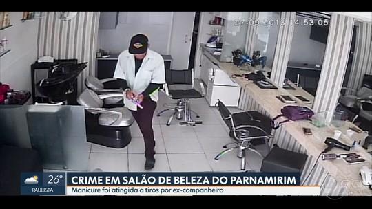 Câmera registra PM aposentado que atirou em manicure dentro de salão no Recife; veja vídeo
