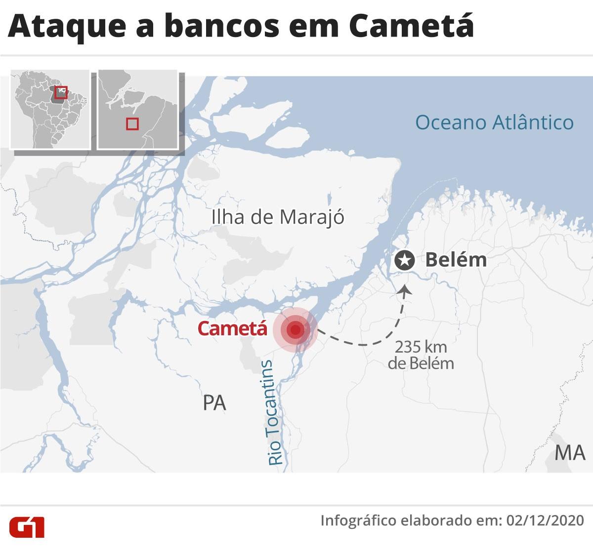 Quadrilha toma ruas e ataca bancos em Cametá, no Pará, em ação parecida com a que ocorreu em Criciúma
