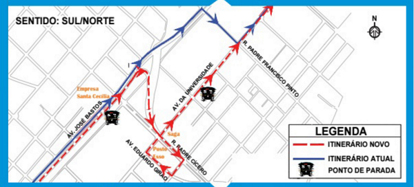 Com a retirada do equipamento, a Avenida José Bastos terá mais fluidez e os deslocamentos serão otimizados. (Foto: Divulgação)