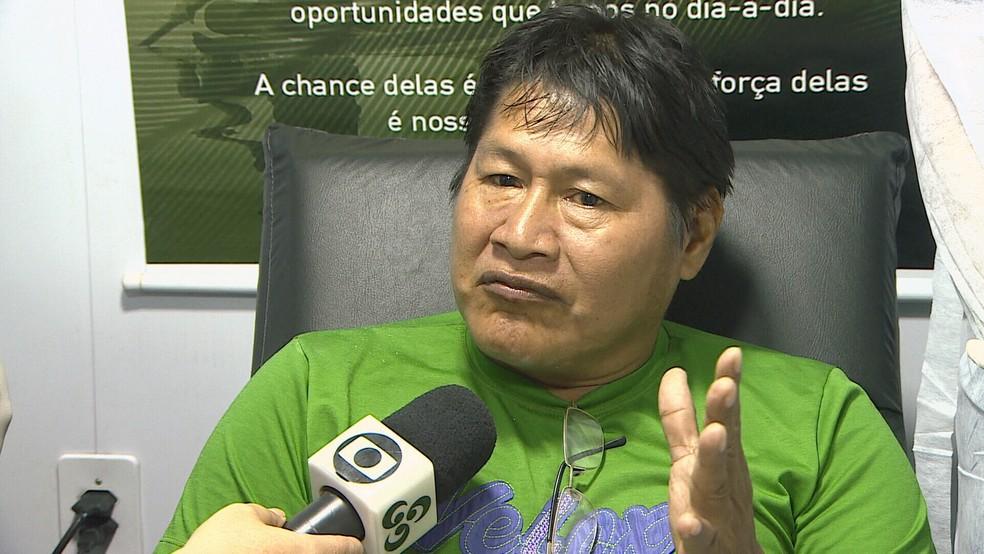 José Oro Nao, professor indígena, foi um dos atendidos  (Foto: Reprodução/ Rede Amazônica  )