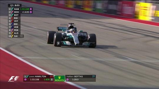 Próximo do tetracampeonato na F1, Hamilton faz a pole para o GP dos EUA
