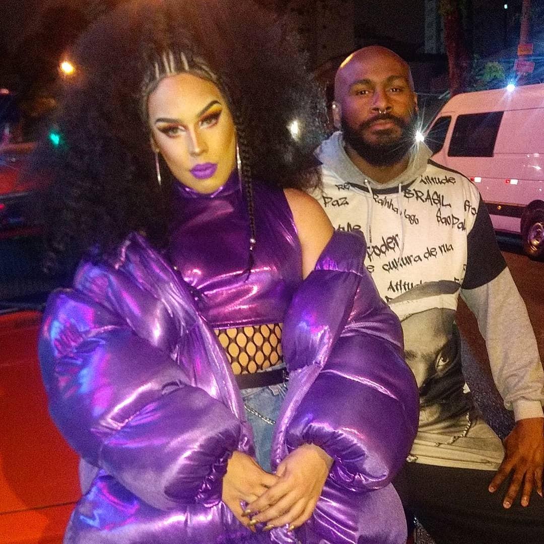 Taiguara Nazareth e Gloria Groove nos bastidores de Apaga a Luz (Foto: Reprodução/Instagram)