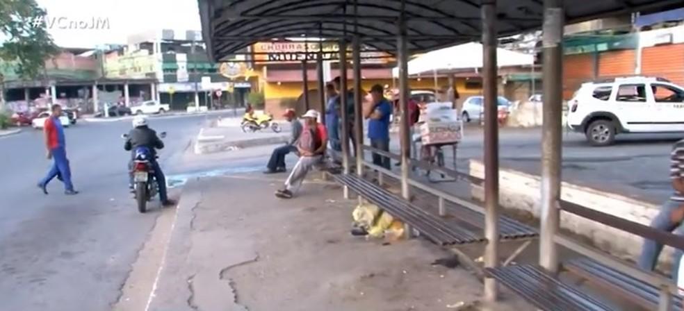 Cidade de Itabuna amanheceu sem ônibus nesta segunda-feira (3) — Foto: Reprodução/ TV Santa Cruz