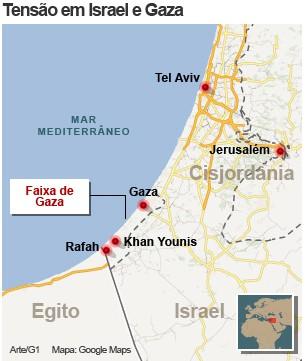 mapa gaza 19/11 (Foto: 1)