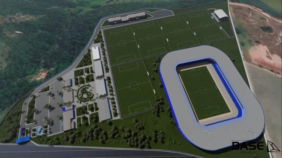 Vista aérea em 3D do CT do CSA — Foto: Divulgação / CSA