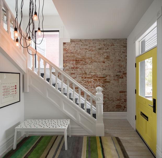 Frescor contemporâneo na casa do século 19 (Foto: David Lauer/Divulgação)