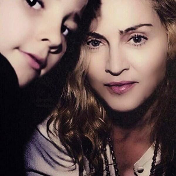 Madonna com o filho Rocco em uma foto antiga (Foto: Instagram)