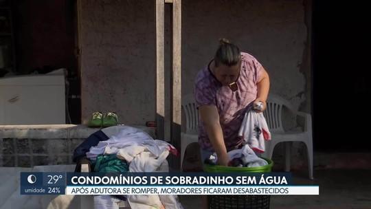 Moradores de condomínios de Sobradinho ficam sem água