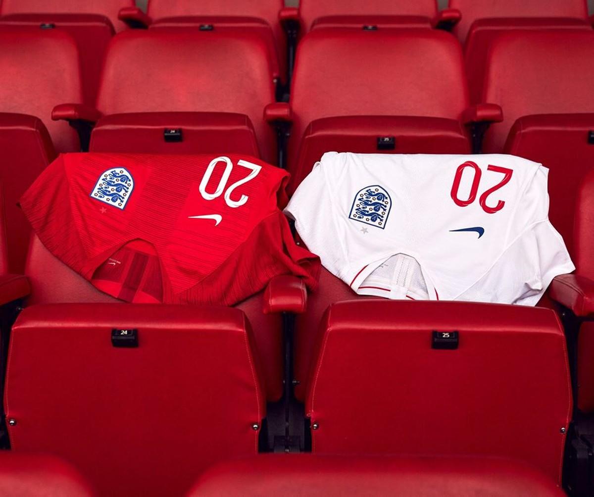 Inglaterra lança uniforme para a Copa do Mundo com modelo clássico ... 23ab668454b0f