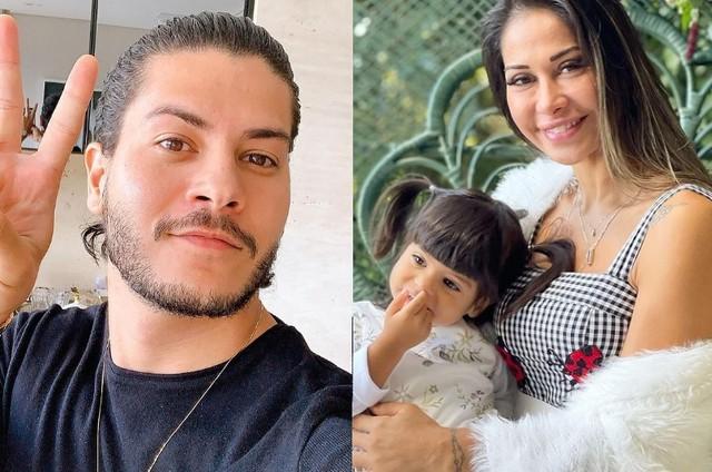 Arthur Aguiar, Mayra Cardi e Sophia (Foto: Reprodução)