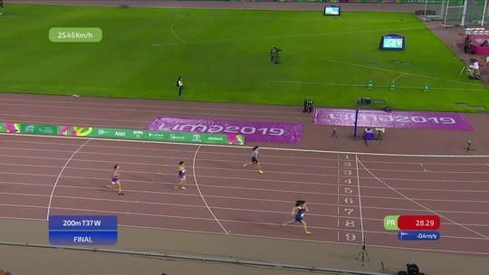 Verônica Hipólito conquista a prata nos 200m do Parapan