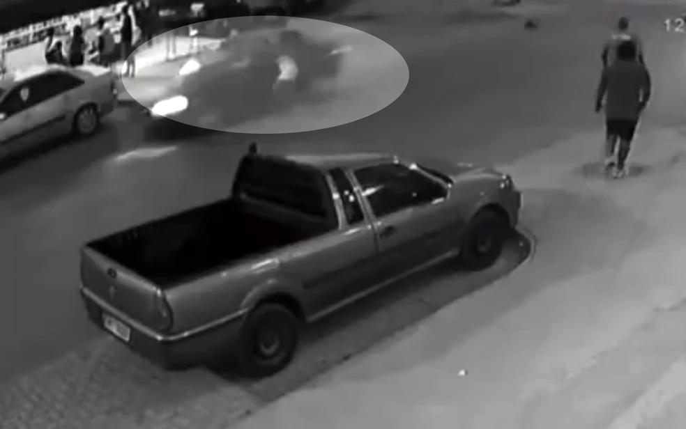 Vídeo registrou acidente  — Foto: Reprodução/TV Anhanguera