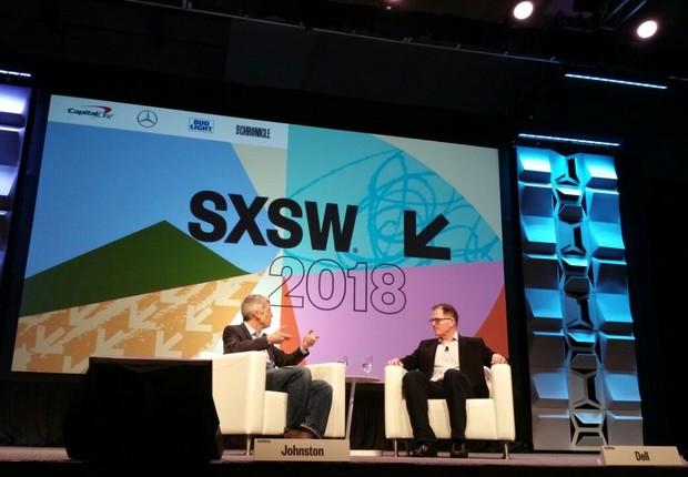 Michael Dell no palco do SXSW 2018 (Foto: Elisa Campos/Época Negócios)