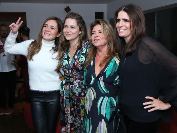 Adriana Esteves, Cláudia Abreu, Naná Karabachian e Malu Mader (Foto: Daniel Pinheiro/AgNews)