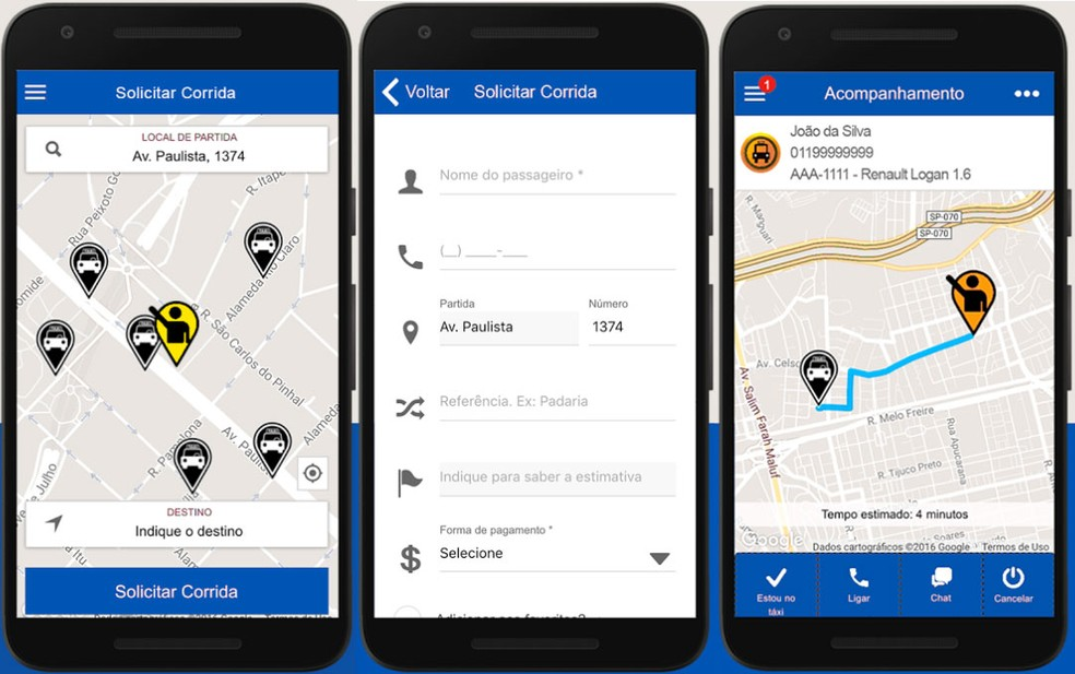 TáxiGov, aplicativo para chamar táxi do governo federal — Foto: Divulgação/Ministério do Planejamento