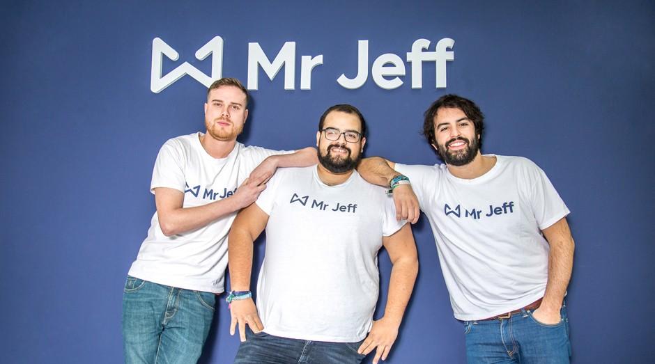 Os sócios Rubén Muñoz, Adrián Moreno e Eloi Gómez são responsáveis pela Mr. Jeff. (Foto: Divulgação)