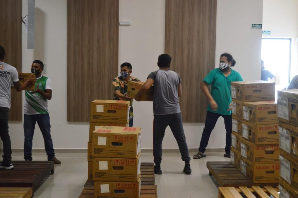 Urnas eletrônicas foram distribuídas em Macapá ao longo da semana — Foto: TRE-AP/Divulgação
