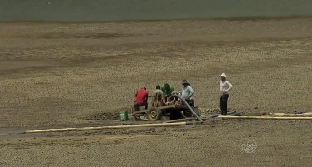Maior açude do Ceará tem apenas 3% da reserva de água — Foto: TV Verdes Mares/Reprodução