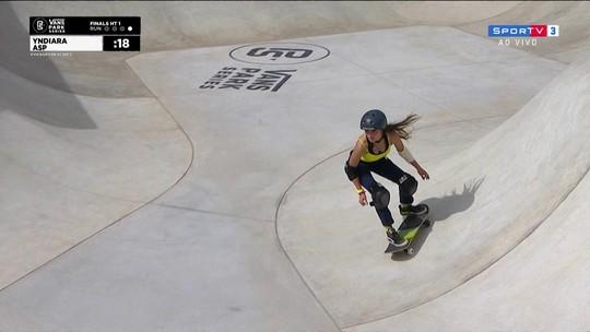 Sakura Yosozumi vence e Yndiara Asp é vice na etapa de São Paulo do Mundial de Skate Park