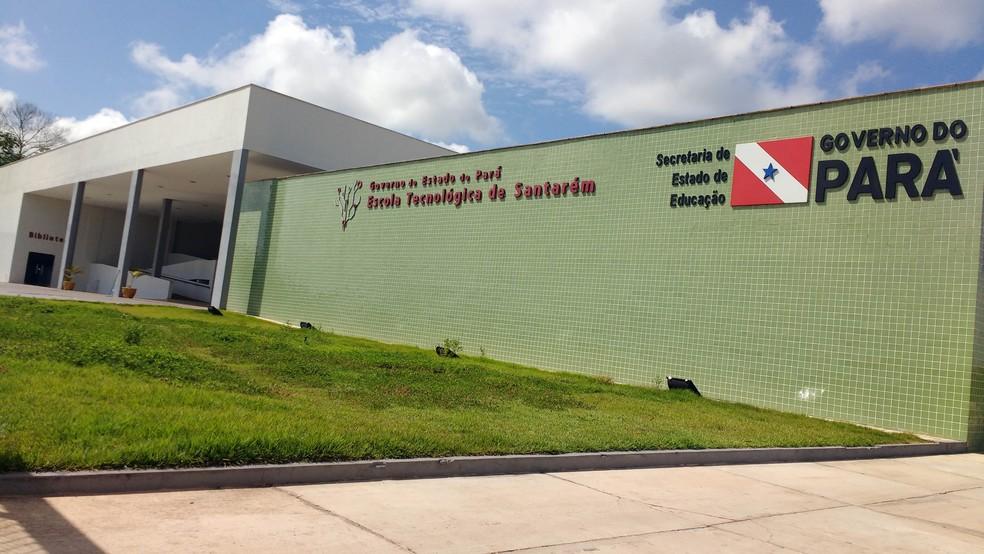 -  Escola Tecnológica de Santarém, que fica localizada na Rodovia Fernando Guilhon, ofertará 40 vagas para dois cursos técnicos  Foto: Samuel Alvarenga/