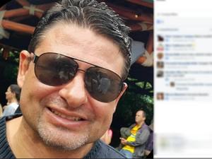 Homem foi atingido por bala de borracha e Polícia Civil vai apurar o caso (Foto: Reprodução/Facebook)