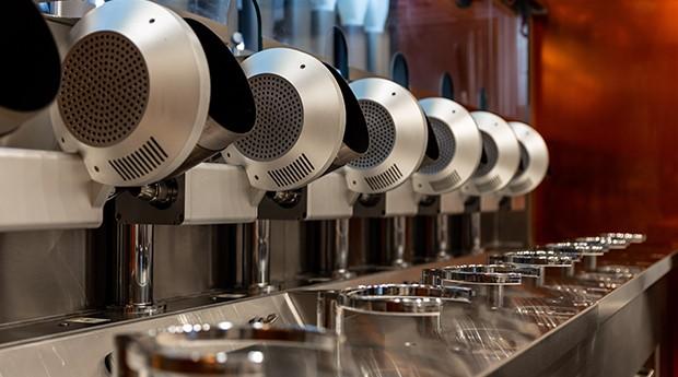 As máquinas que preparam os alimentos em menos de 3 minutos da Spyce. (Foto: Divulgação)