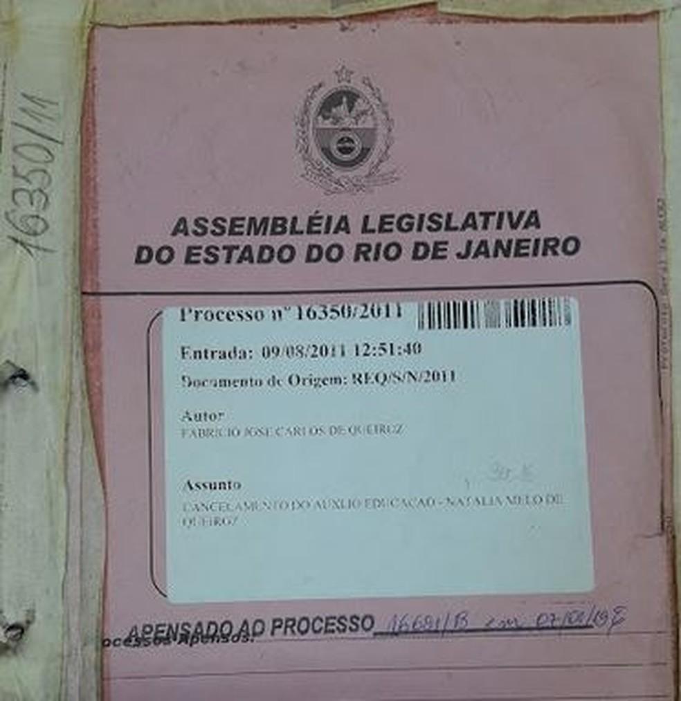 Processo na Alerj contra Fabrício Queiroz foi obtido com exclusividade pelo G1 — Foto: Reprodução