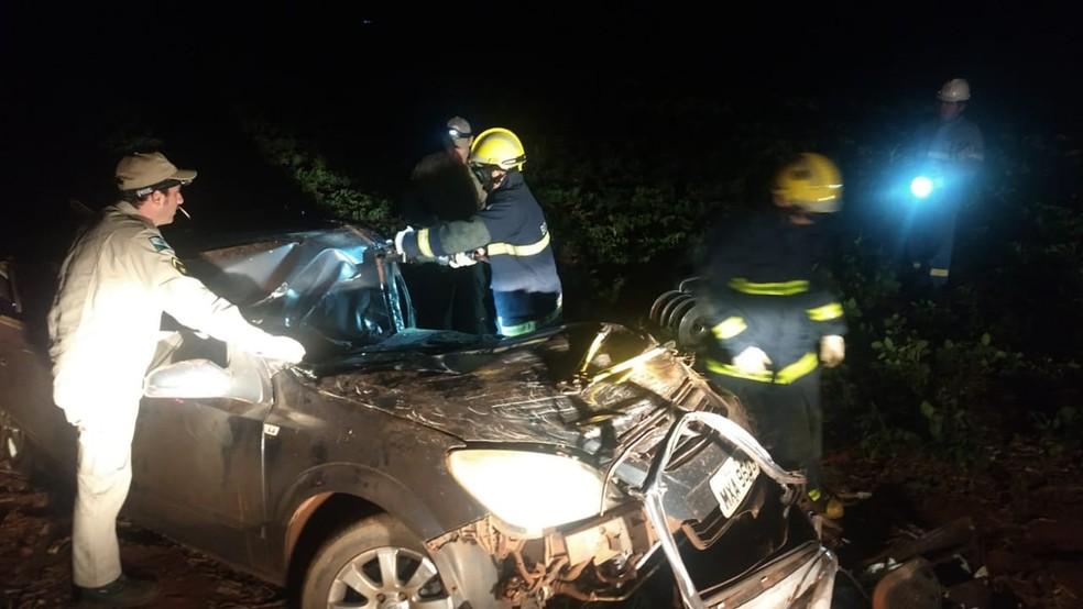 O motorista, de 29 anos, morreu no local, de acordo com a polícia. — Foto: Divulgação/PRE
