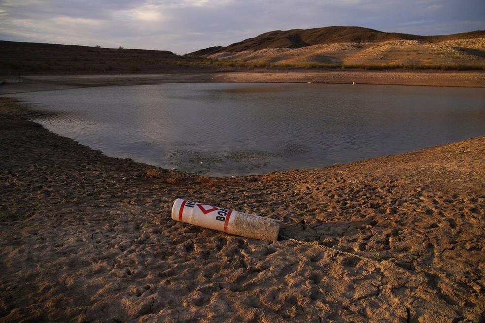 Situação de escassez no Lago Mead, nos EUA — Foto: John Locher/AP Photo