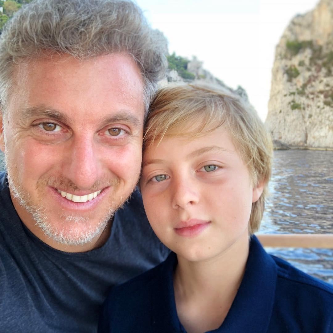 Luciano e o filho, Benício (Foto: Reprodução/ Instagram)