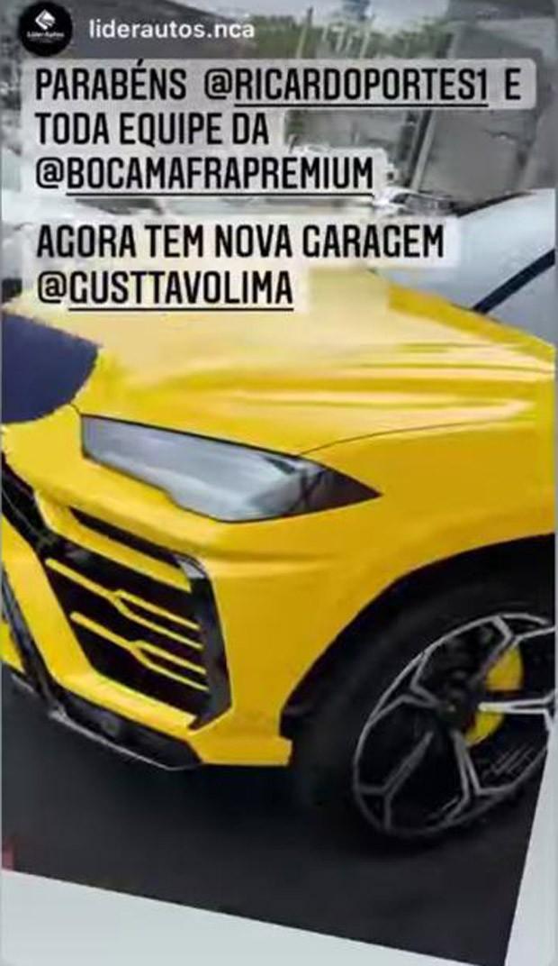 O carrão de Gusttavo Lima (Foto: Reprodução Instagram)