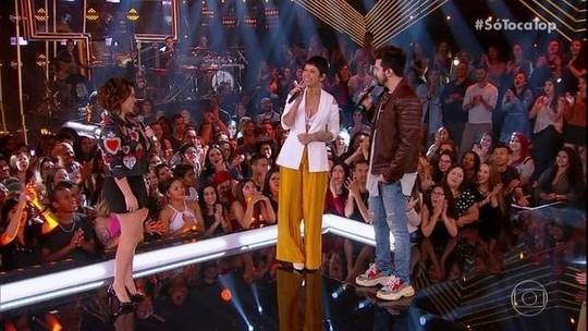 'SóTocaTop': Luan Santana e Kell Smith revelam composição juntos e cantam trecho