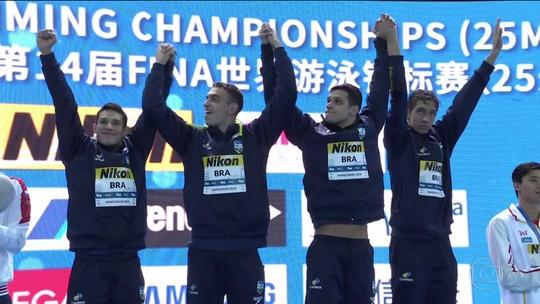 Por título e recorde no Mundial da China, revezamento brasileiro receberá R$ 95 mil em premiação