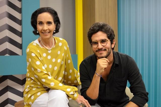 Vera Barroso e Bruno Barros no 'Sem censura', da TV Brasil (Foto: Divulgação)