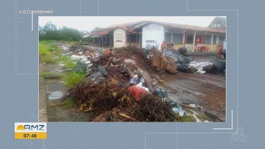 Ação retira mais de 20 toneladas de lixo que estava em feira na Zona Leste de Macapá