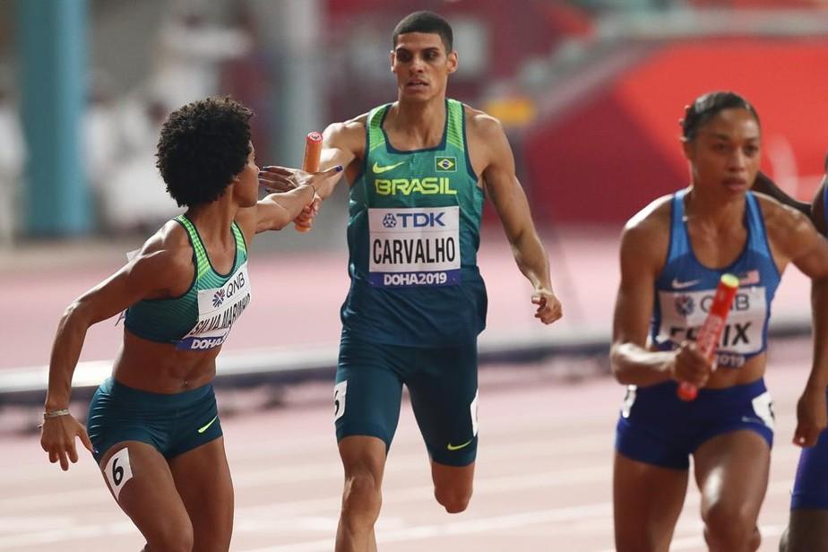 Brasil confirma vaga olímpica no revezamento em noite de tetra de Shelly-Ann Fraser-Pryce em Doha