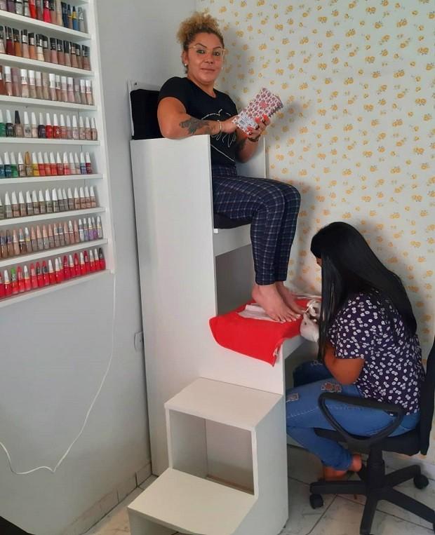 """""""Trono das divas"""" criado pela manicure Thais Amorim (Foto: Reprodução/Instagram)"""