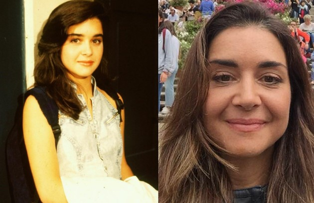 Alexandra Marzo foi a tímida Beth. Longe da TV desde 'Suave veneno', de 1999, ela é roteirista (Foto: Nelson Di Rago/Globo e Reprodução)