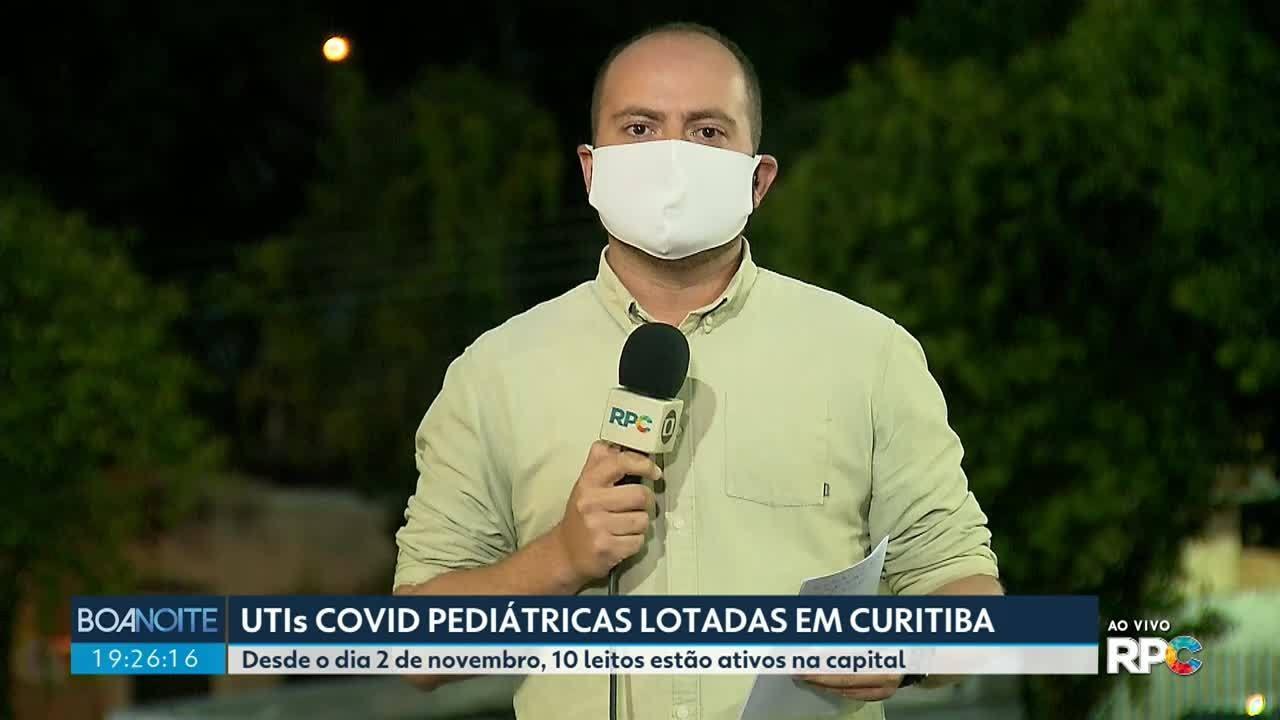 UTIs pediátricas para pacientes com coronavírus estão lotadas em Curitiba