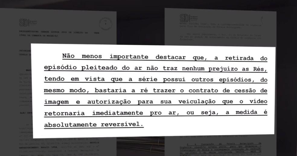 Processo da família de idosa fã da Anitta pede retirada de trecho do episódio em que Dona Ilza aparece — Foto: Reprodução/Inter TV