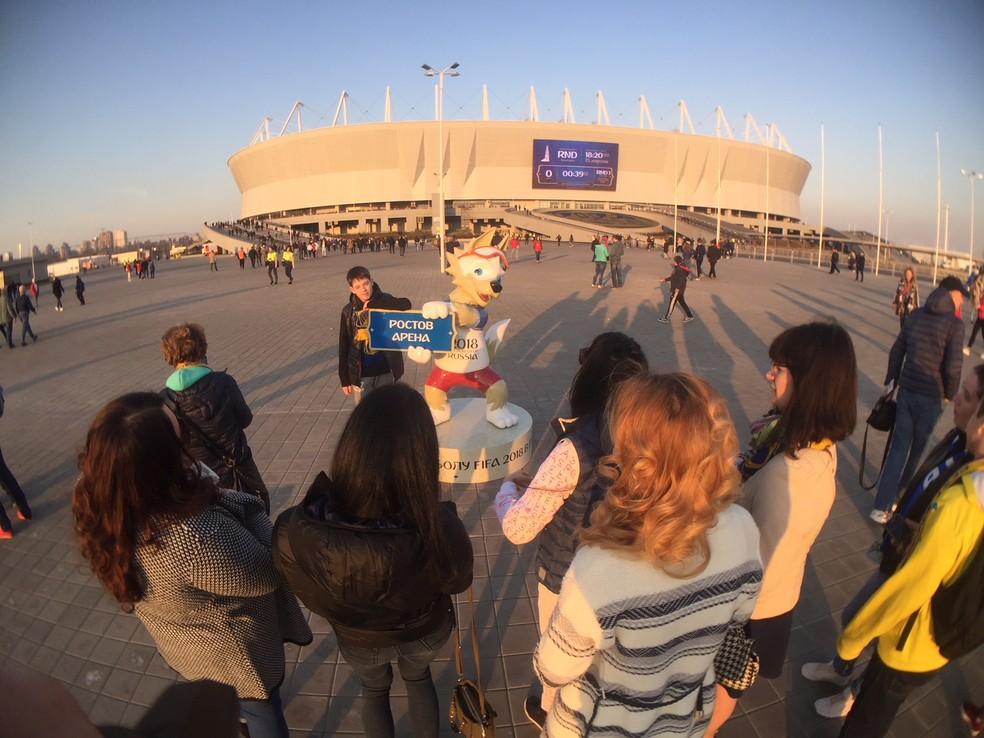 Palco da estreia do Brasil na Copa, Estádio de Rostov é inaugurado neste domingo (Foto: Richard Souza)