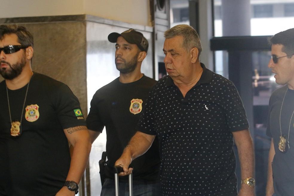 Picciane chega à sede da PF no Rio para depor na operação Cadeia Velha (Foto: Reginaldo Pimenta/Raw Image/Estadão Conteúdo)