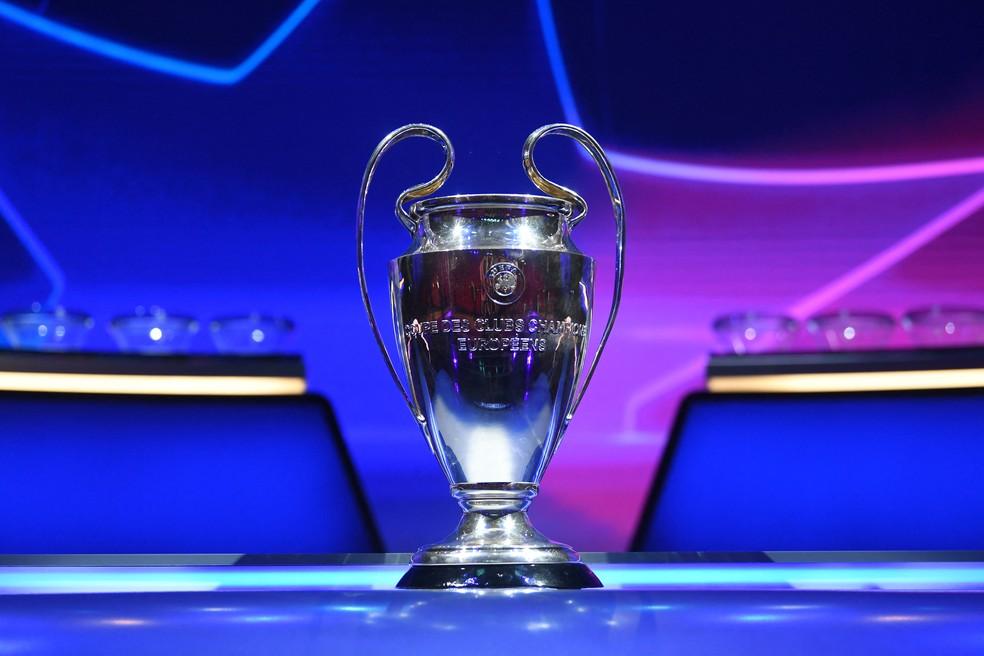 Uefa definiu nesta quinta-feira os grupos da Liga dos Campeões 2021/22 — Foto: AFP