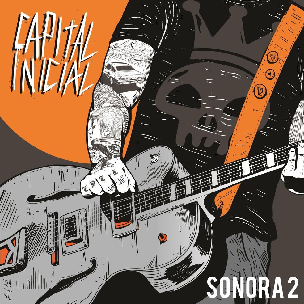 Capa do single duplo 'Sonora 2', do Capital Inicial — Foto: Divulgação / Sony Music