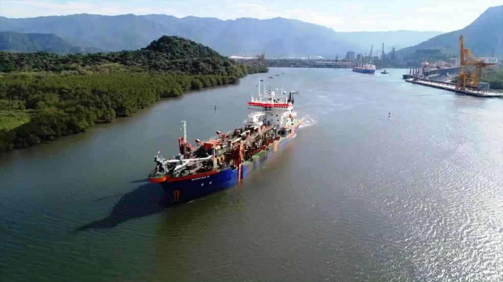 Justiça suspende dragagem no Canal de Piaçaguera no Porto de Santos, SP (Foto: Divulgação )