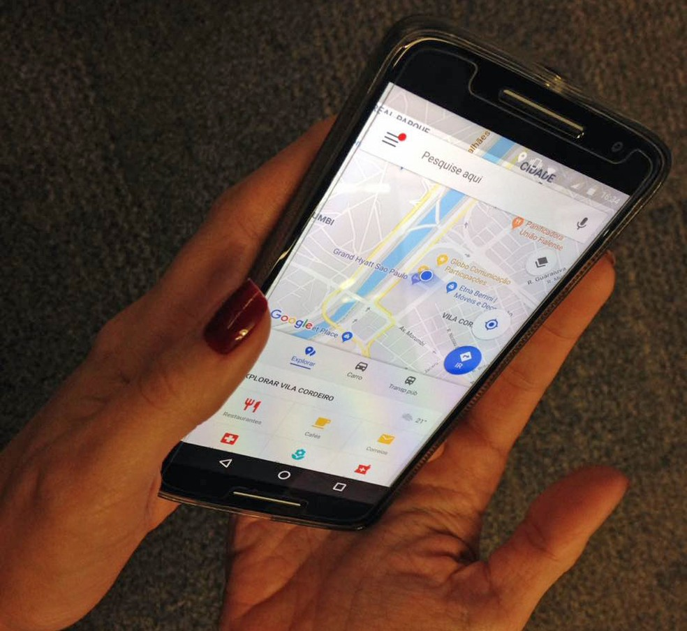 Aplicativo Google Maps (Foto: Luísa Melo/G1)