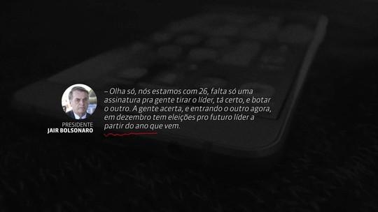 ÁUDIO: Bolsonaro articula para tirar líder do PSL na Câmara