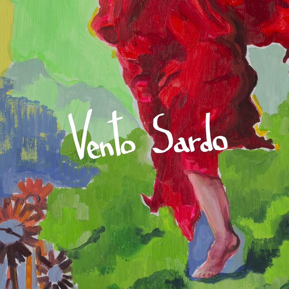 Capa do single 'Vento sardo', de Marisa Monte com Jorge Drexler — Foto: Arte de Marcela Cantuária