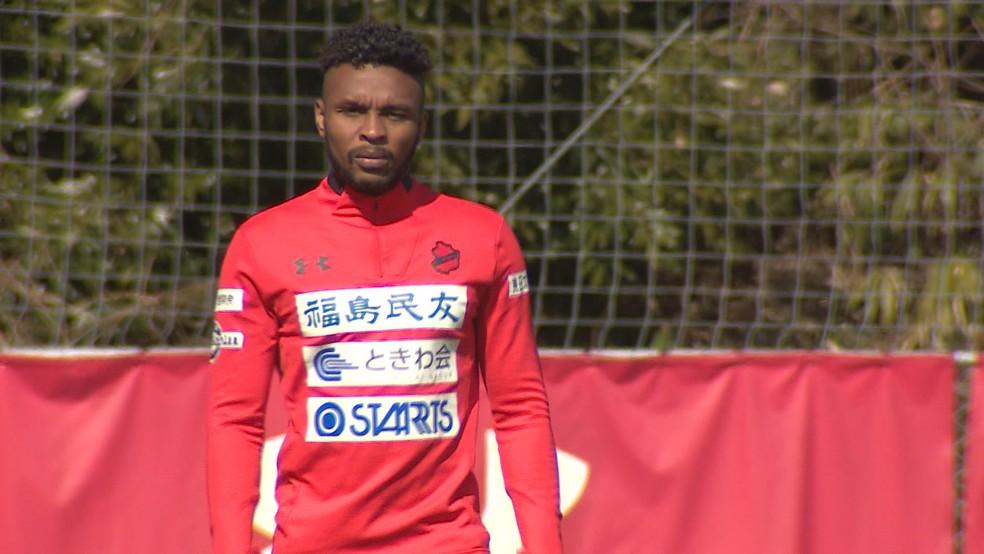 Zagueiro brasileiro Wesley é dos atletas que constroem o Iwaki FC — Foto: Reprodução